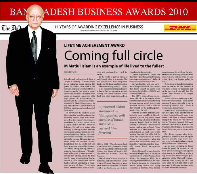 11 YEARS OF AWARDING EXCELLENCE IN BUSINESS
